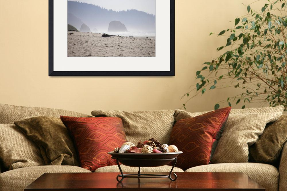 """Beach at Haystack Rock&quot  by rgtmum"