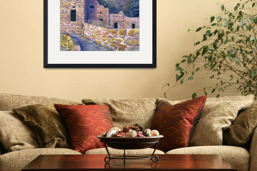 """Artwork; Spruce House Mesa Verde Ancient Southwest&quot  (2008) by Lenora"