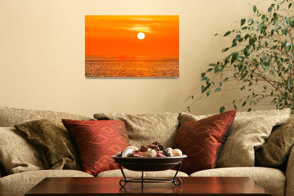 """sunset at sea with multiple color prizm&quot  by digidreamgrafix"