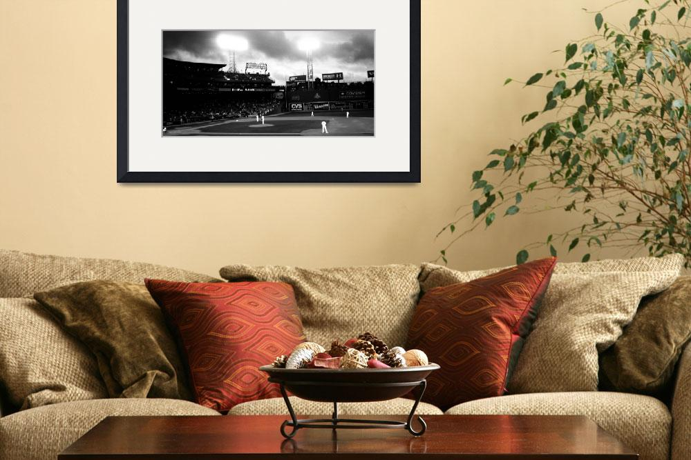 """Fenway Park - panoramic&quot  (2010) by NatalieRobinson"