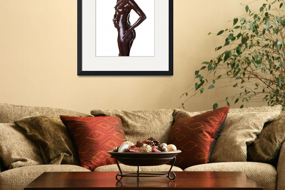 """Naked woman covered with chocolate, isolated on wh&quot  by Piotr_Marcinski"