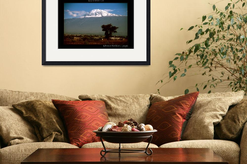 """Tanzania Kilimanjaro from Moshi with snow&quot  (2003) by ExposedPlanet"