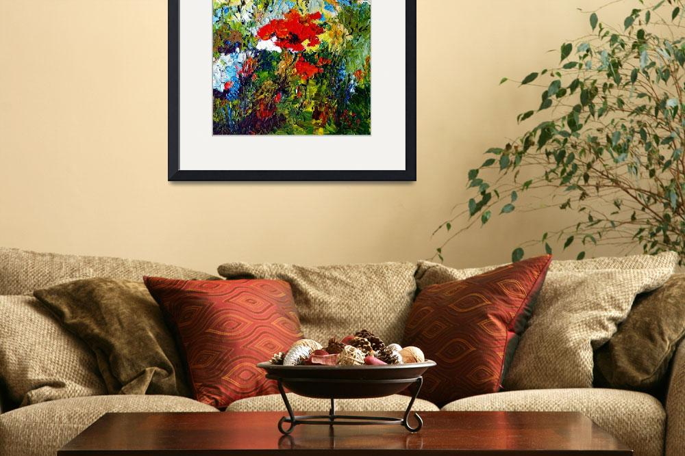 """Red Poppies Provencale Oil Painting by Ginette&quot  (2009) by GinetteCallaway"