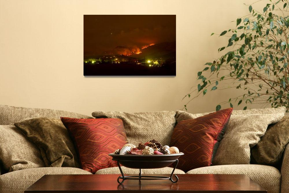 """Lefthand Canyon Wildfire Boulder County Colorado 3&quot  (2011) by lightningman"