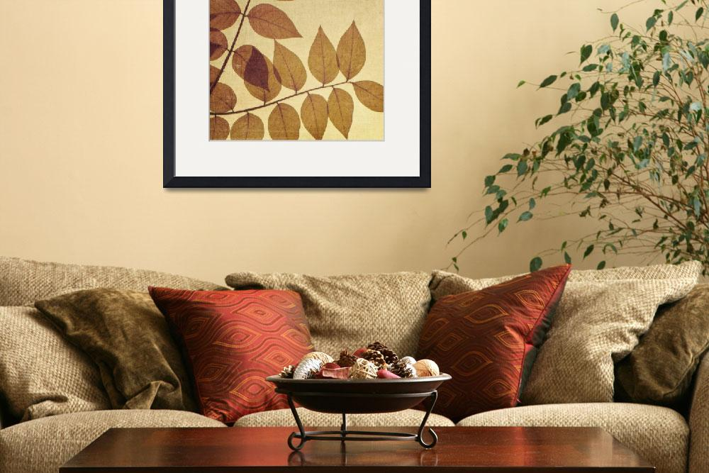 """Natural Canvas Botanicals, Brown&quot  (2011) by GiantPeachDesigns"