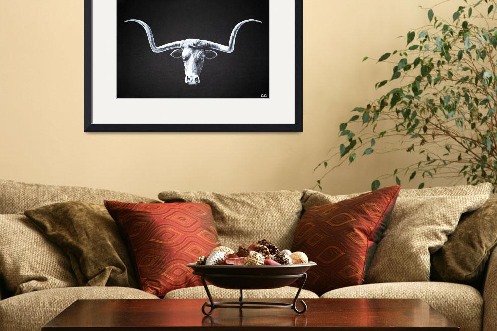 """Longhorn Steer&quot  by AnimalsbyDiDi"
