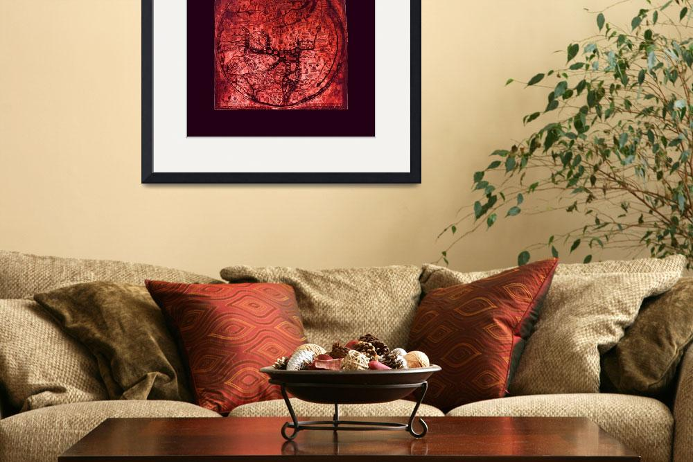 """Hereford Mappa Mundi Red Tint Largest Violet Borde&quot  (2014) by TheNorthernTerritory"
