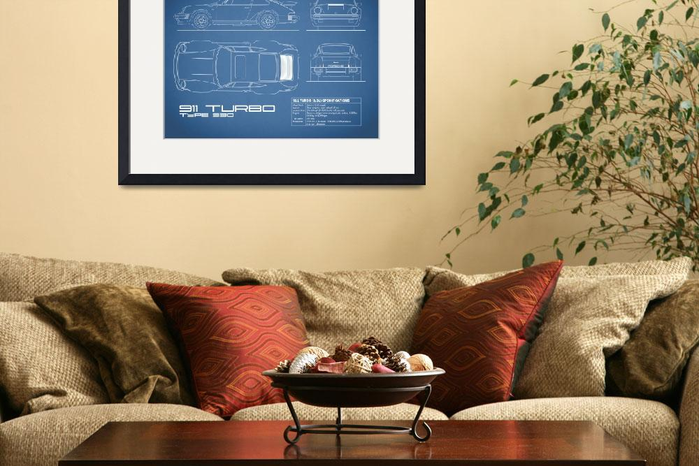 """911-Turbo 1977 Blueprint&quot  (2015) by mark-rogan"