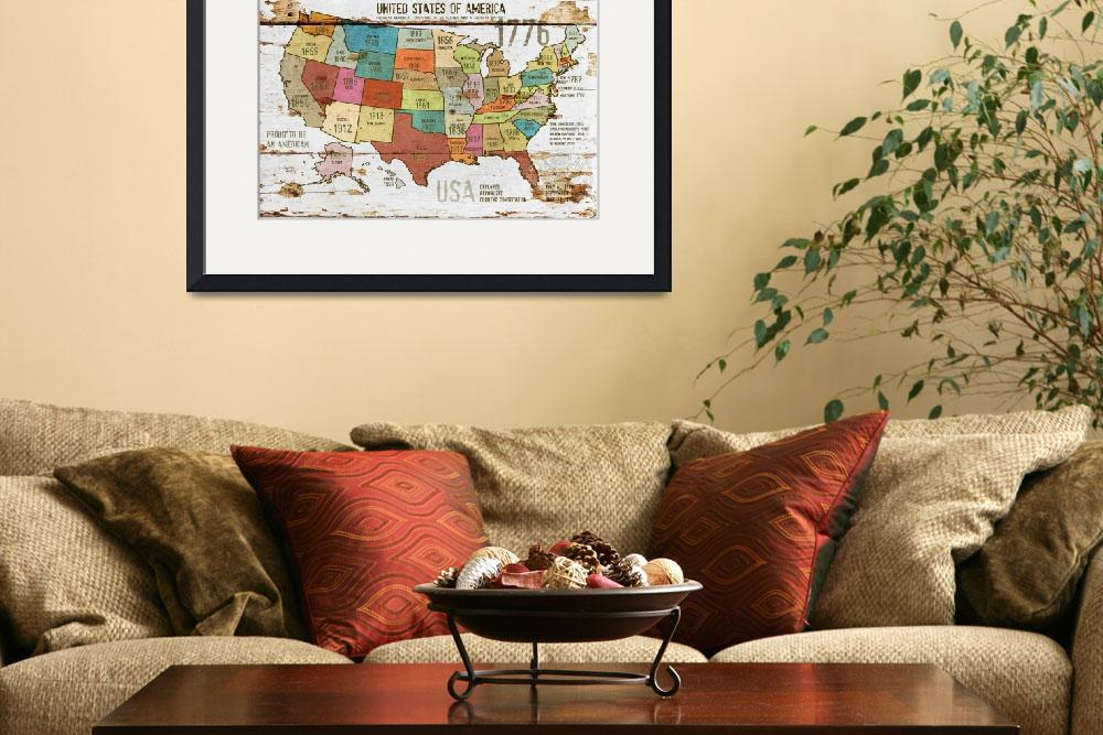"""27x39 NEW ORL-2989-3 The United States of America&quot  by Aneri"