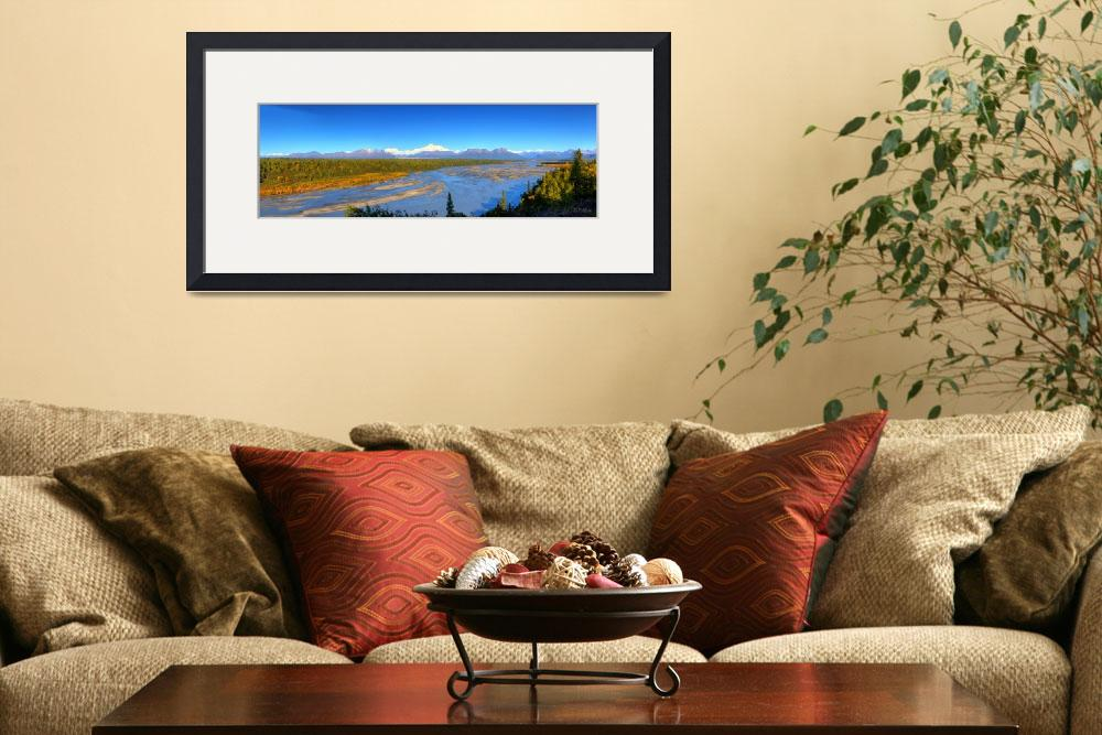 """Susitna River Panorama&quot  by RHMiller"