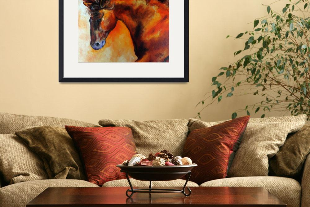 """DARK BAY EQUINE&quot  (2010) by MBaldwinFineArt2006"