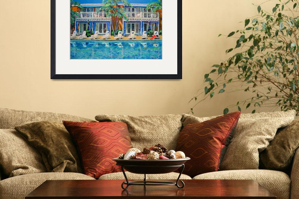 """Poolside at the Lafayette Cabanas by RD Riccoboni&quot  (2009) by BeaconArtWorksCorporation"
