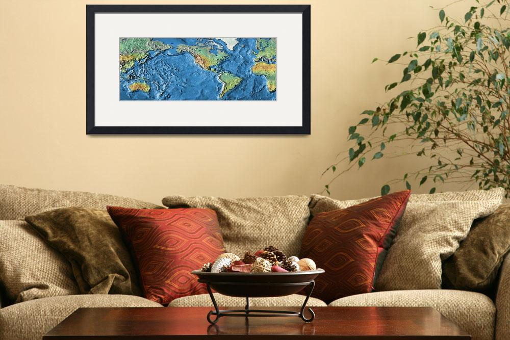 """Close-up of a world map&quot  by Panoramic_Images"