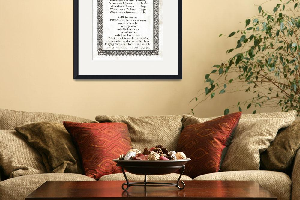 """300 fleur border lord parchment nd=pope francis=st&quot  by DesiderataGallery"