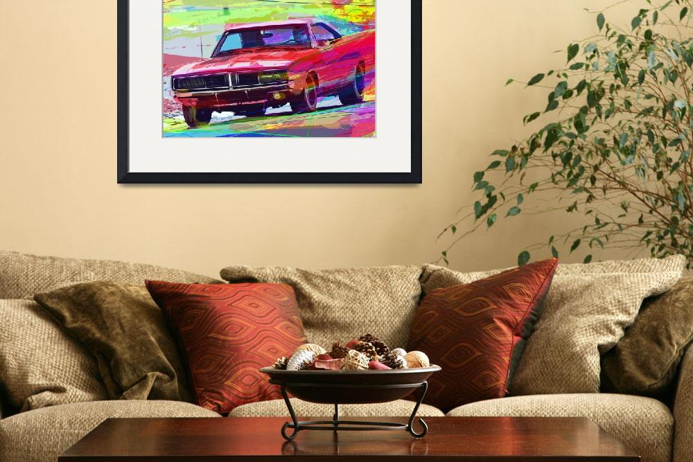 """1969 Dodge Charger Hemi&quot  (2012) by DavidLloydGlover"