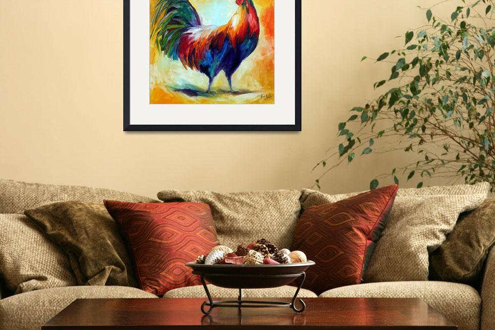 """RED WING ROOSTER&quot  (2010) by MBaldwinFineArt2006"