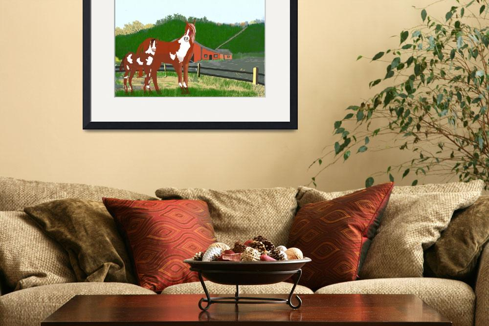 """Mare and Baby Spring in the Country&quot  (2010) by JoyLyn"