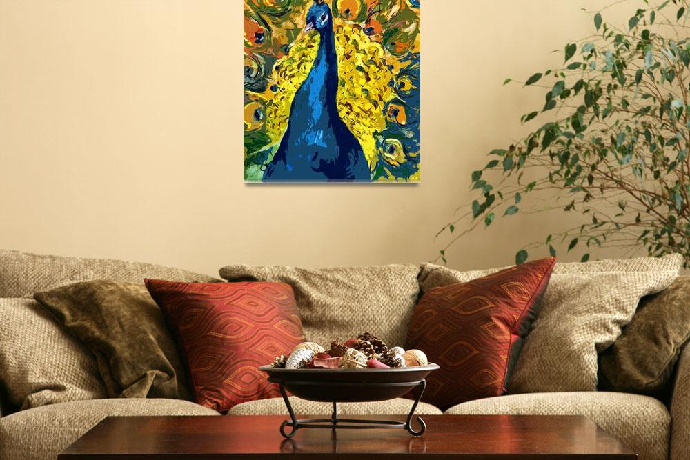 """Peacock Fowl Peafowl Beautiful Bird Art&quot  (2012) by GinetteCallaway"