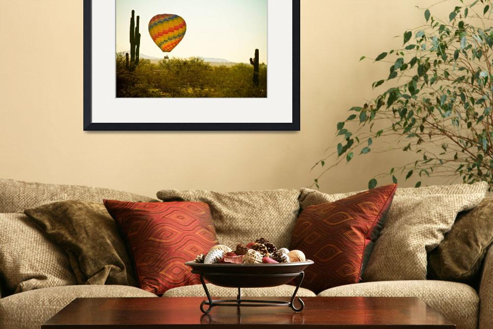 """Hot Air Balloon in the Beautiful Lush Arizona Dese&quot  (2011) by lightningman"