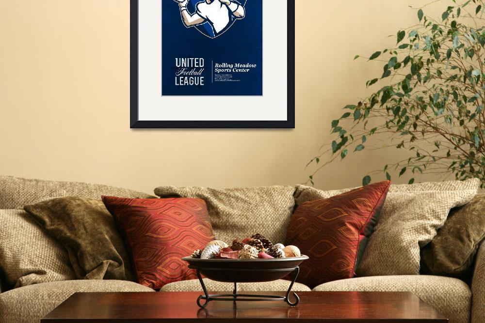 """United Gridiron Football League Poster&quot  (2013) by patrimonio"