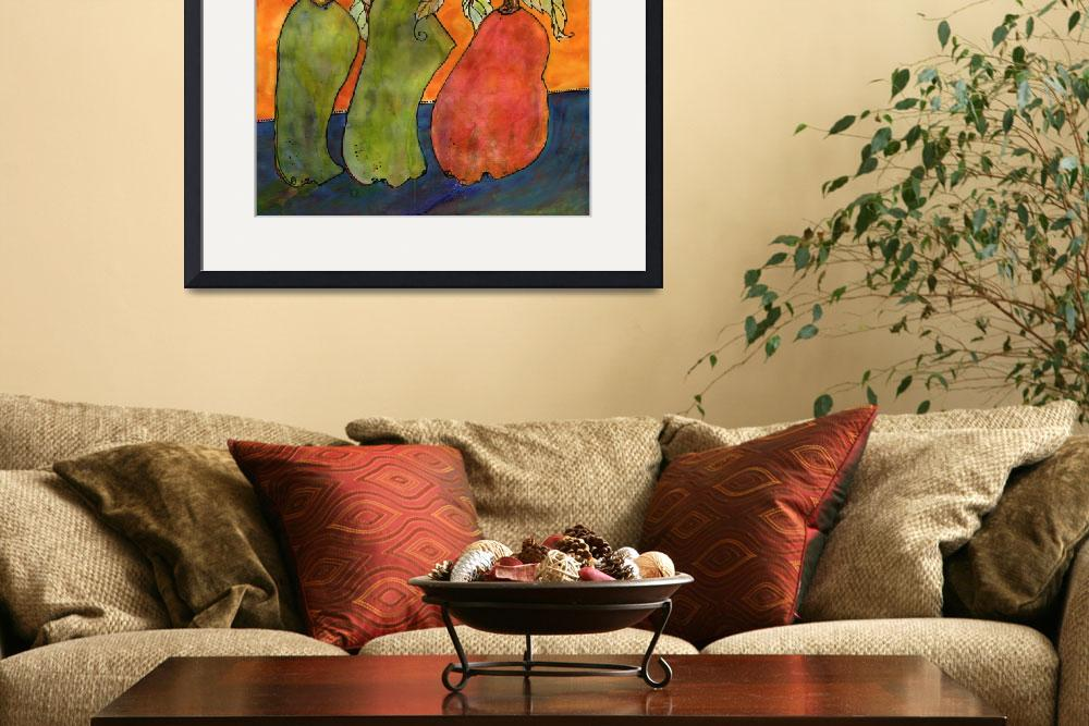 """Three Surrealism Pears&quot  by BlendaStudio"