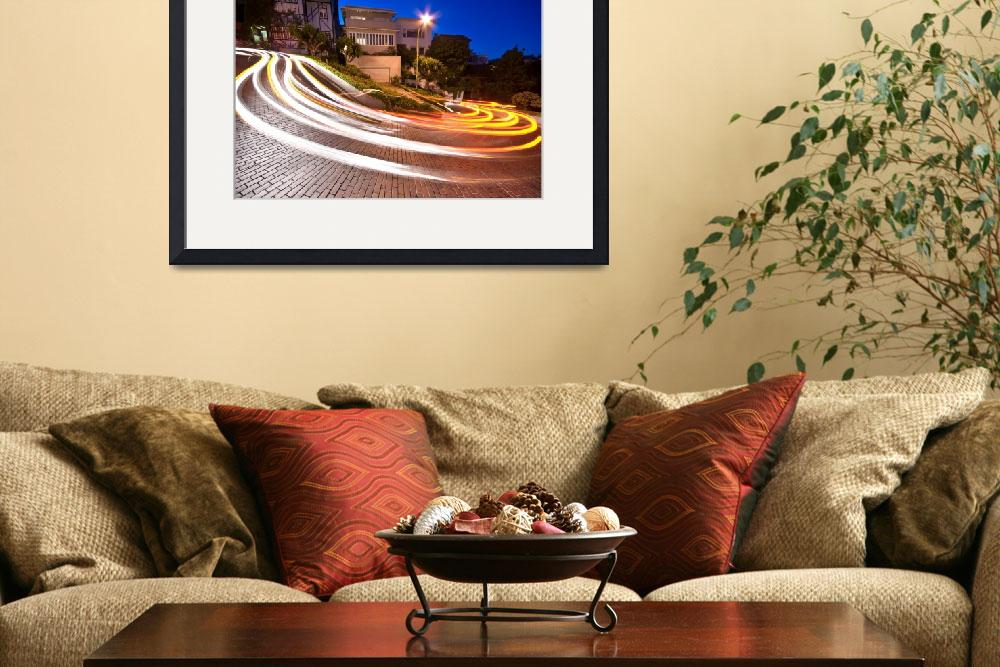 """Lombard Street, San Francisco at night&quot  by canbalci"