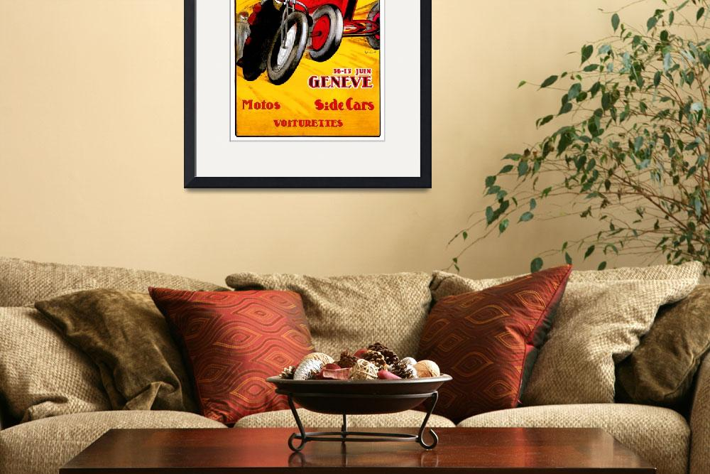 """Swiss Grand Prix ~ Vintage Auto / Car Race Ad&quot  by Johnny-Bismark"