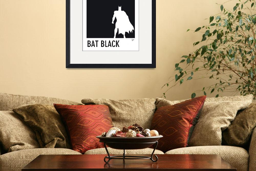 """My Superhero 02 Bat Black Minimal poster&quot  by Chungkong"