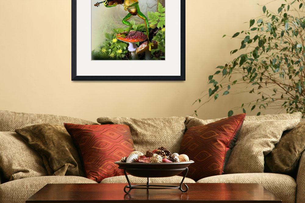 """Frog Fiddler&quot  (2010) by Unique_designs"