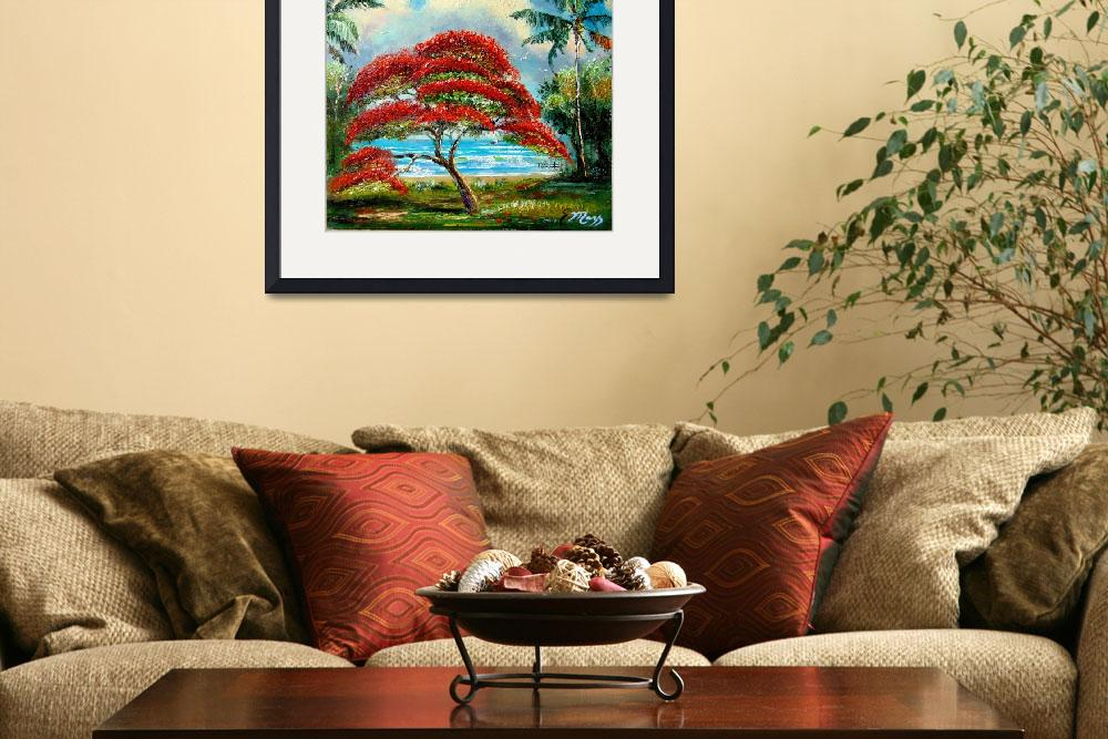 """Royal Poinciana Tree Painting&quot  (2008) by mazz"
