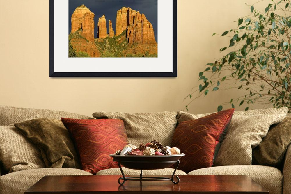 """Sunset on Cathedral Rock, Sedona, Arizona&quot  (2007) by MichaelStephenWills"