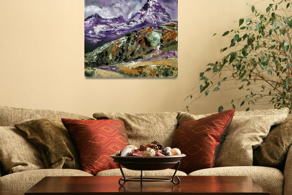 """Rugged Mountain Landscape Oil painting by Ginette&quot  (2003) by GinetteCallaway"