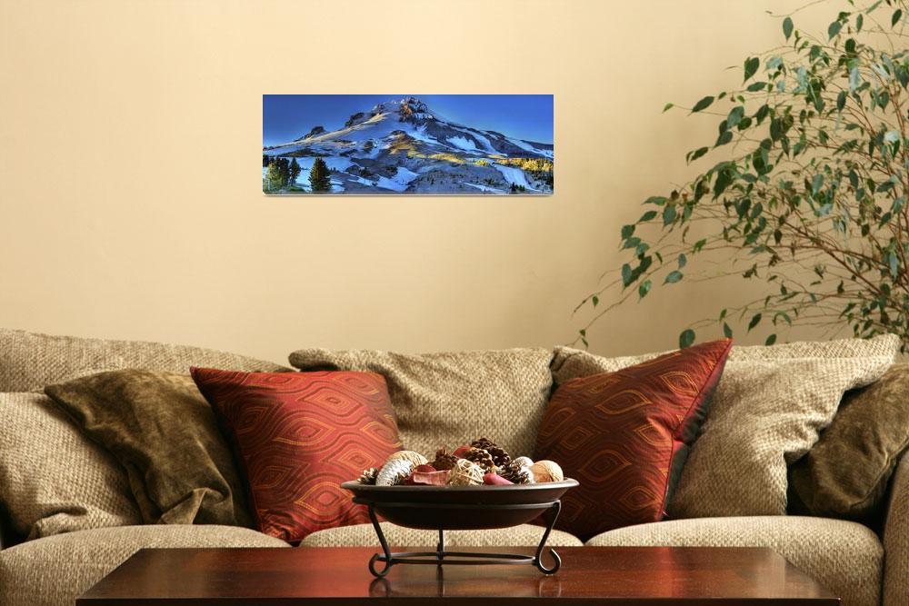 """0204 Mount Hood Panoramic&quot  (2010) by vincentlouis"