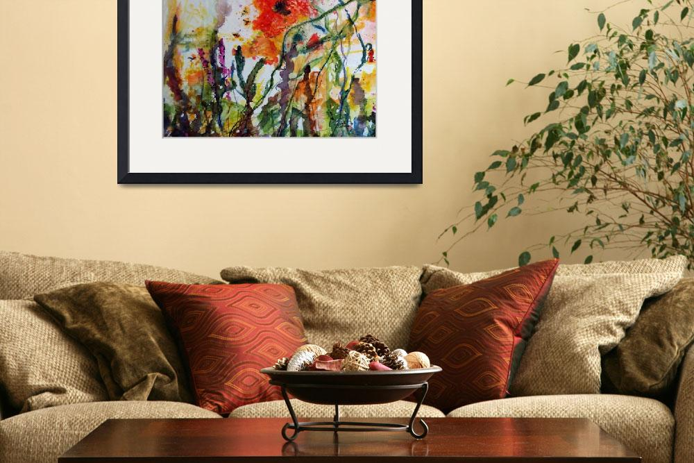 """Abstract Poppies Watercolor and Ink by Ginette&quot  (2008) by GinetteCallaway"