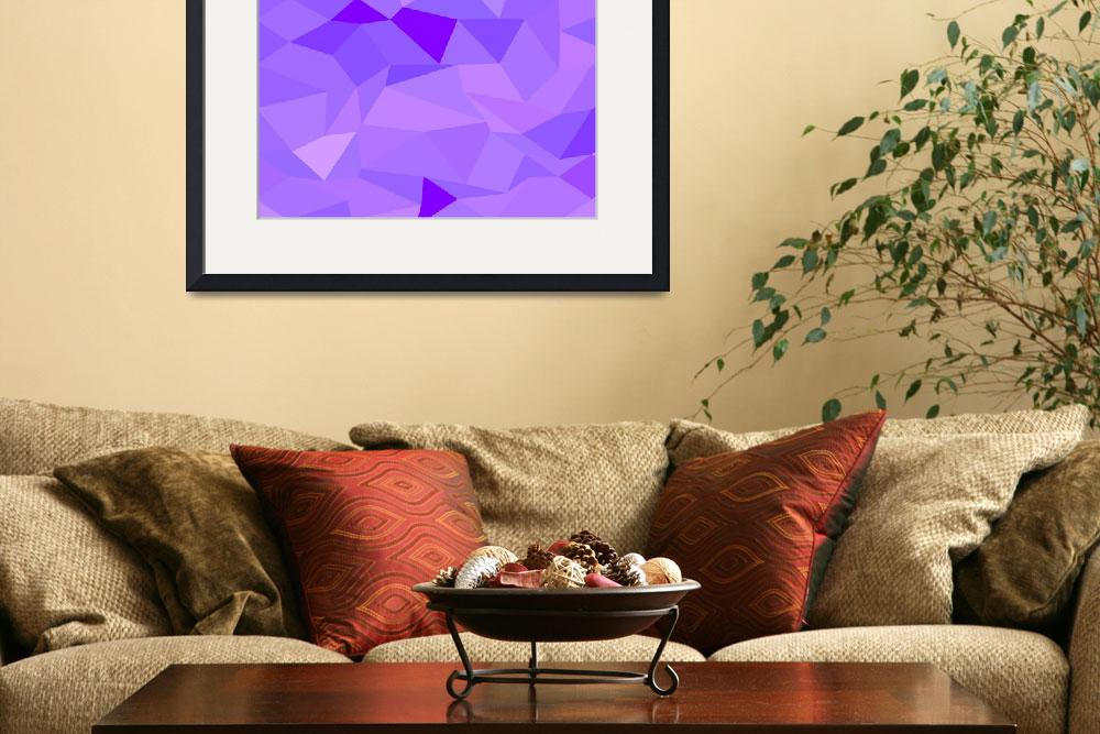 """Icebergs Purple Abstract Low Polygon Background&quot  (2015) by patrimonio"