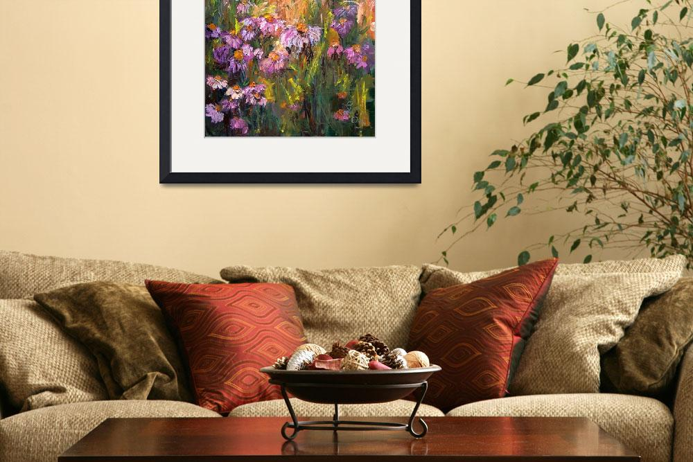 """Echinecea Purple Coneflower Oil Painting Ginette&quot  (2005) by GinetteCallaway"