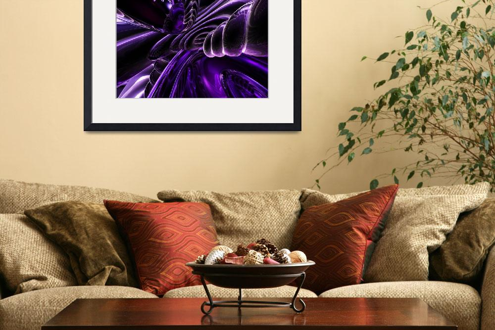 """Purple Delusions Abstract&quot  (2014) by AlexButler"