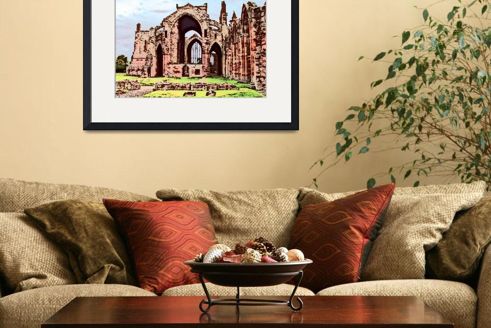 """Melrose Abbey&quot  (2006) by Longlinestudio"