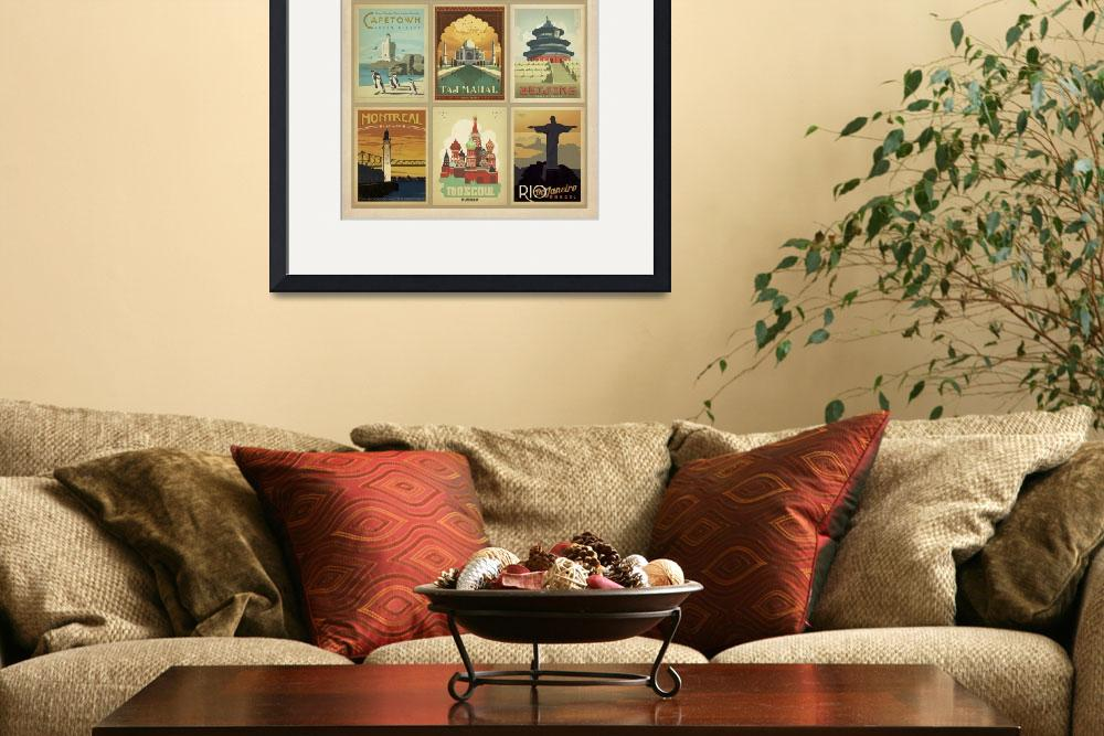 """World Travel Collection II - Retro Travel Posters&quot  by artlicensing"