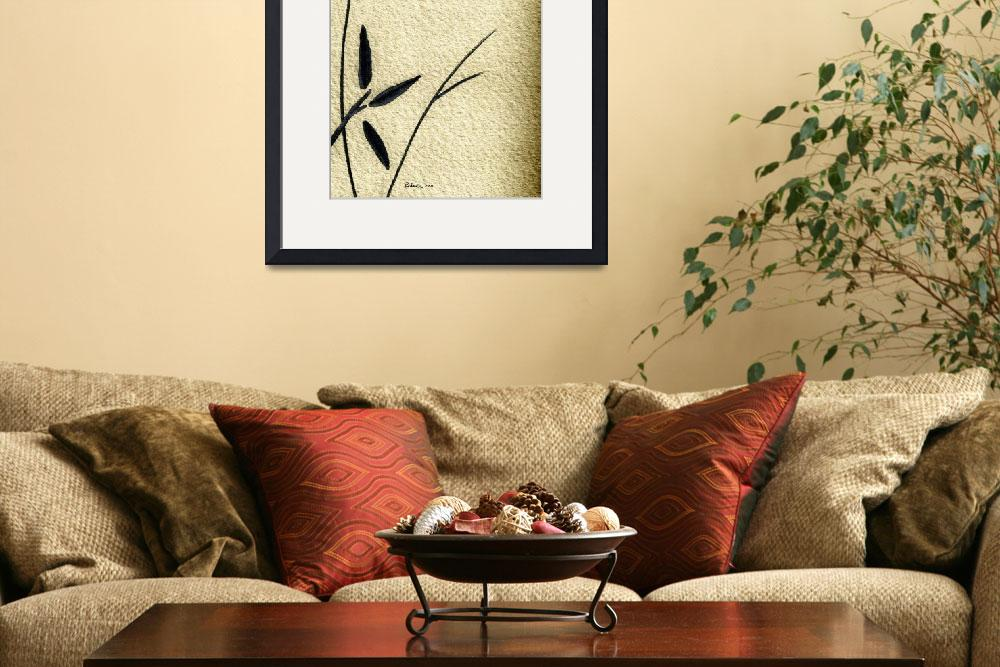 """Zen Sumi Antique Flower 4a Ink on Watercolor Paper&quot  (2011) by Ricardos"