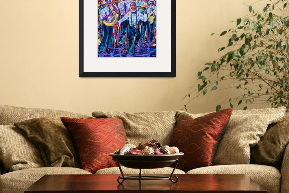 """New Orleans Second Line&quot  (2011) by neworleansartist"