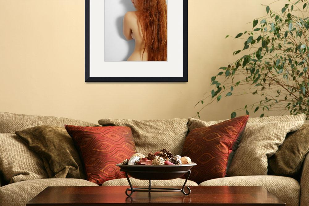 """Nude woman with red long hair.&quot  (2010) by olegmit"