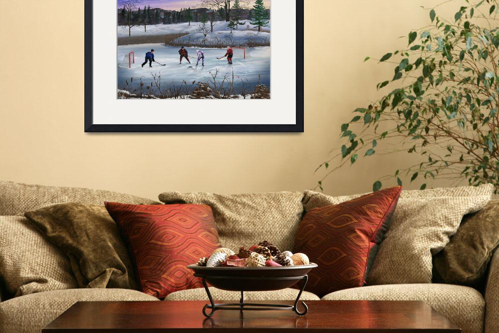 """Pond Hockey&quot  (2010) by skyerenaud"