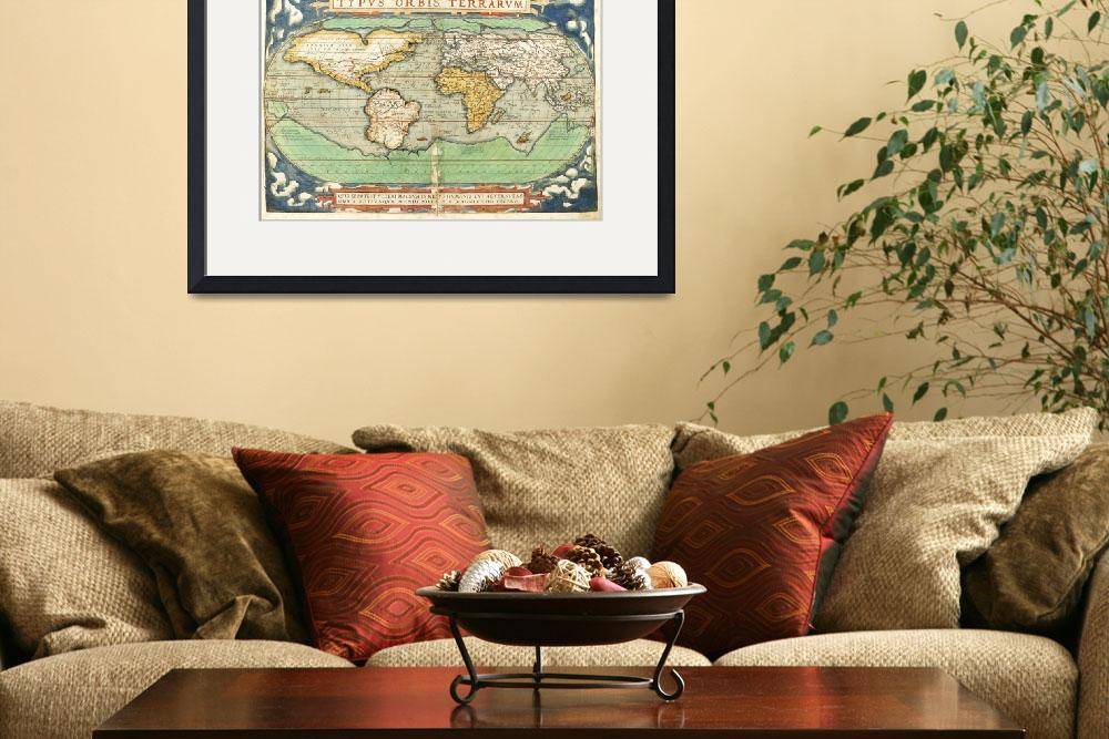 """Typus Orbis Terrarum, Map of the World&quot  by fineartmasters"