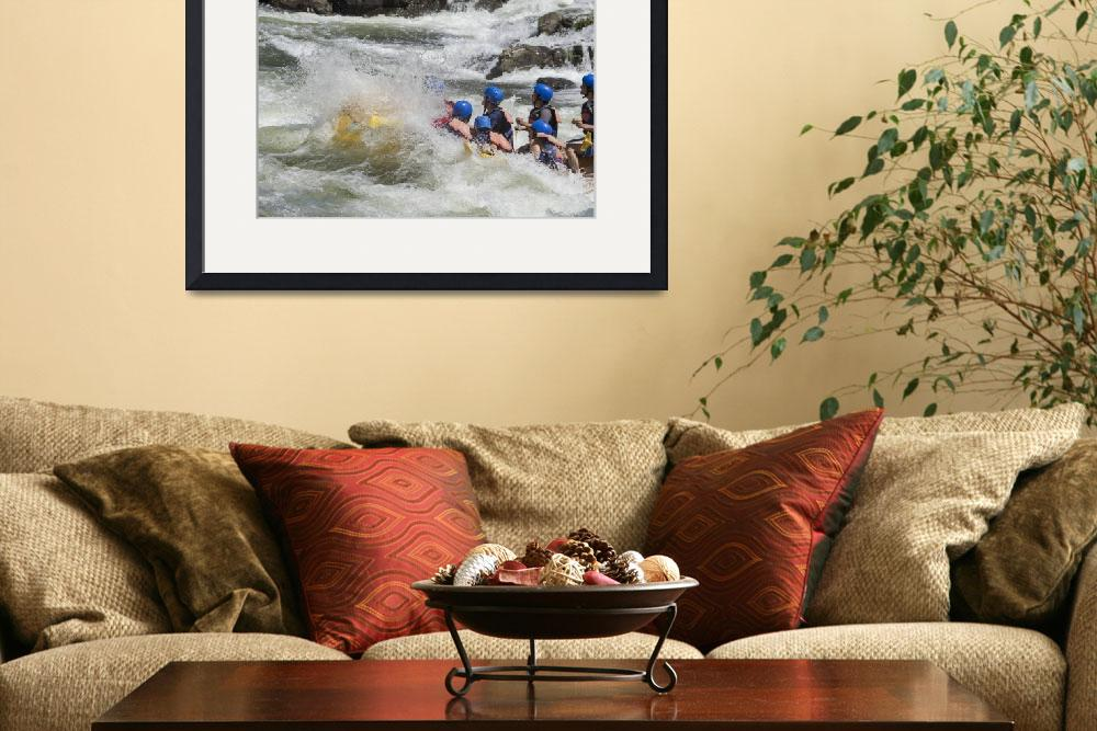 """Whitewater rafting, South Fork American River&quot  (2016) by SederquistPhotography"