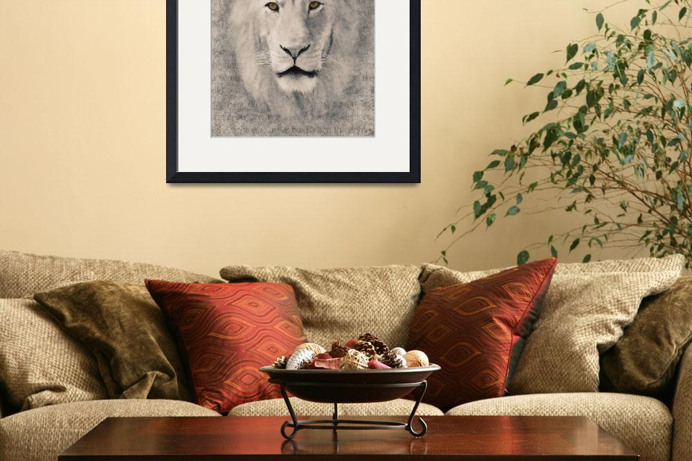 """Bold as a Lion in Black and White&quot  (2010) by LoriLindsey"
