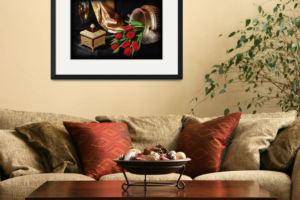 """The Red Tulip Urn&quot  (2008) by DianaLeePhotoDesigns"