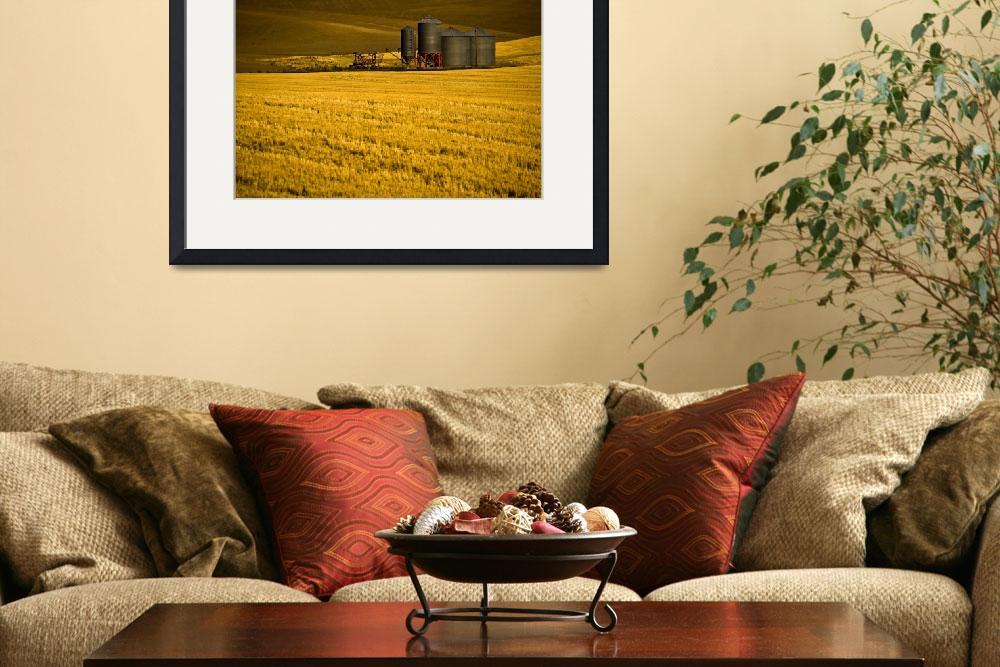 """Farm in The Palouse&quot  (2008) by edleckert"
