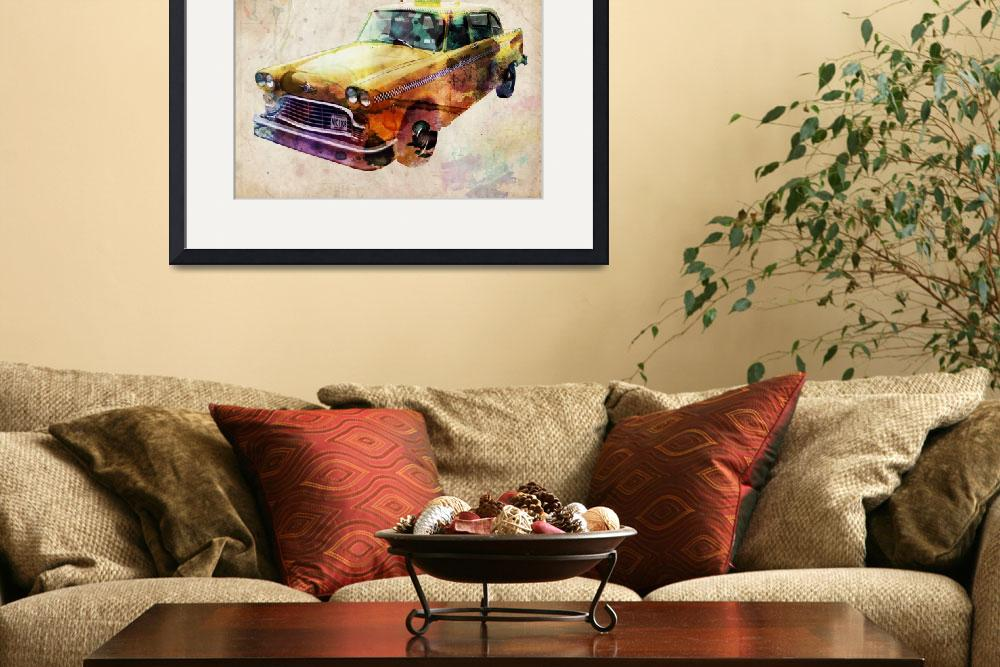 """NYC Classic Taxi Urban Art&quot  (2009) by ModernArtPrints"