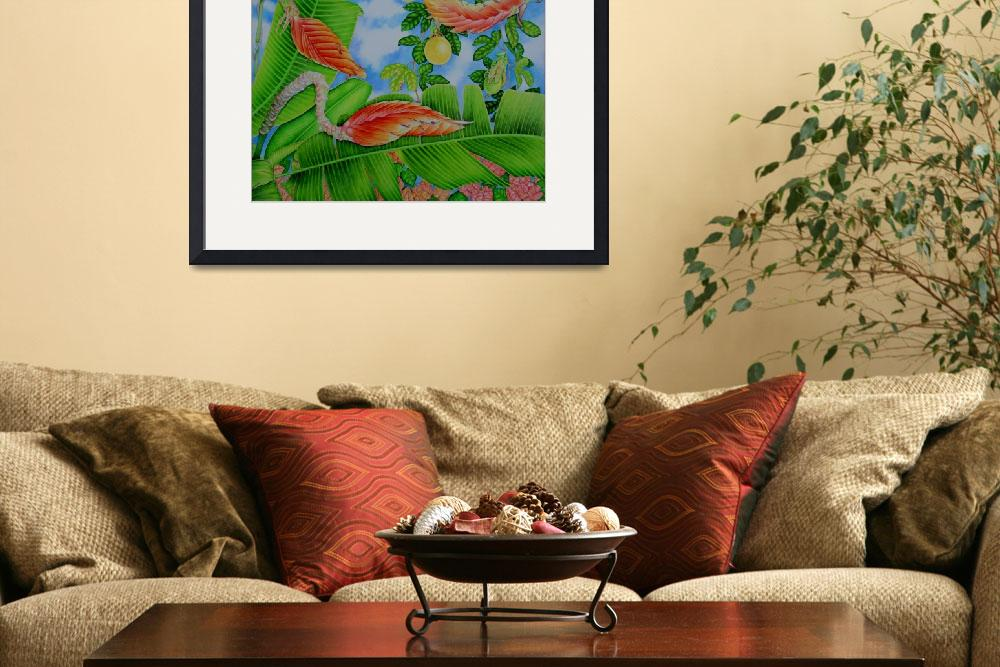 """Heliconia and Passion Fruit&quot  (2010) by joeyartist"
